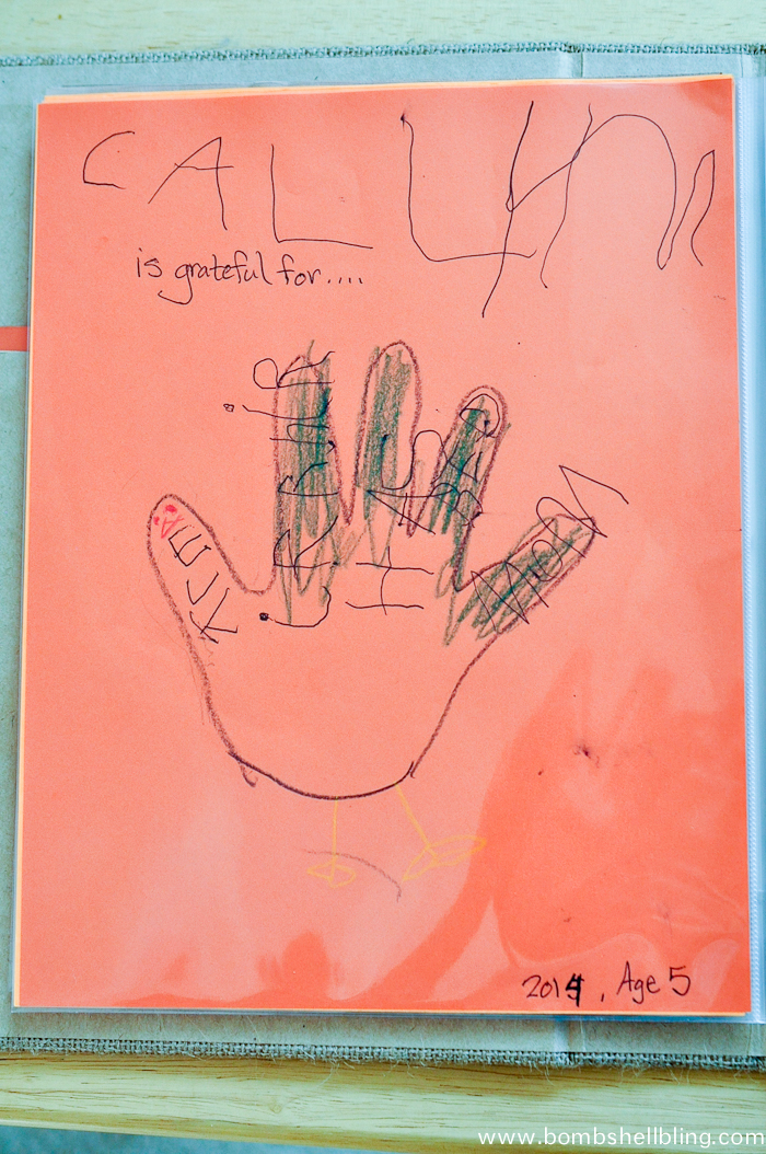 I love this Thanksgiving tradition of gratitude hand turkeys!