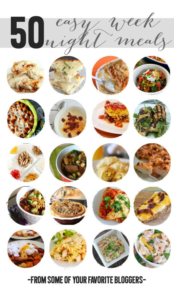 50 Easy Weeknight Meal Recipes -- I NEED THIS!