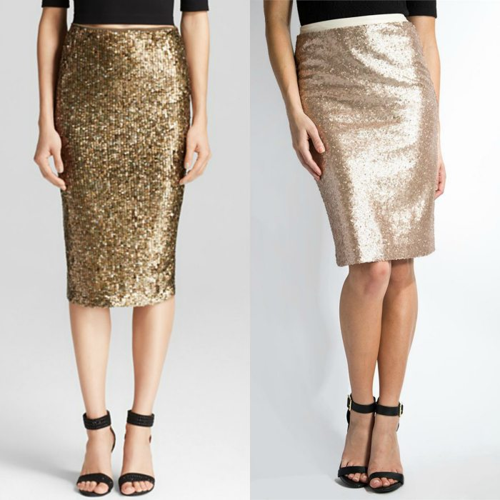 A Sequin Pencil Skirt!