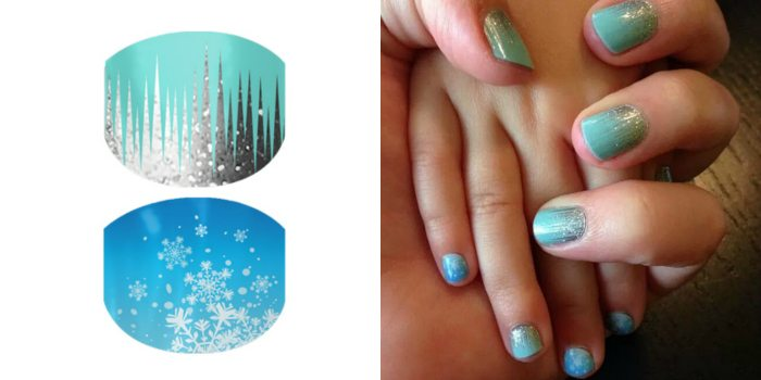A Set of FROZEN Inspired Jamberry Nail Wraps!