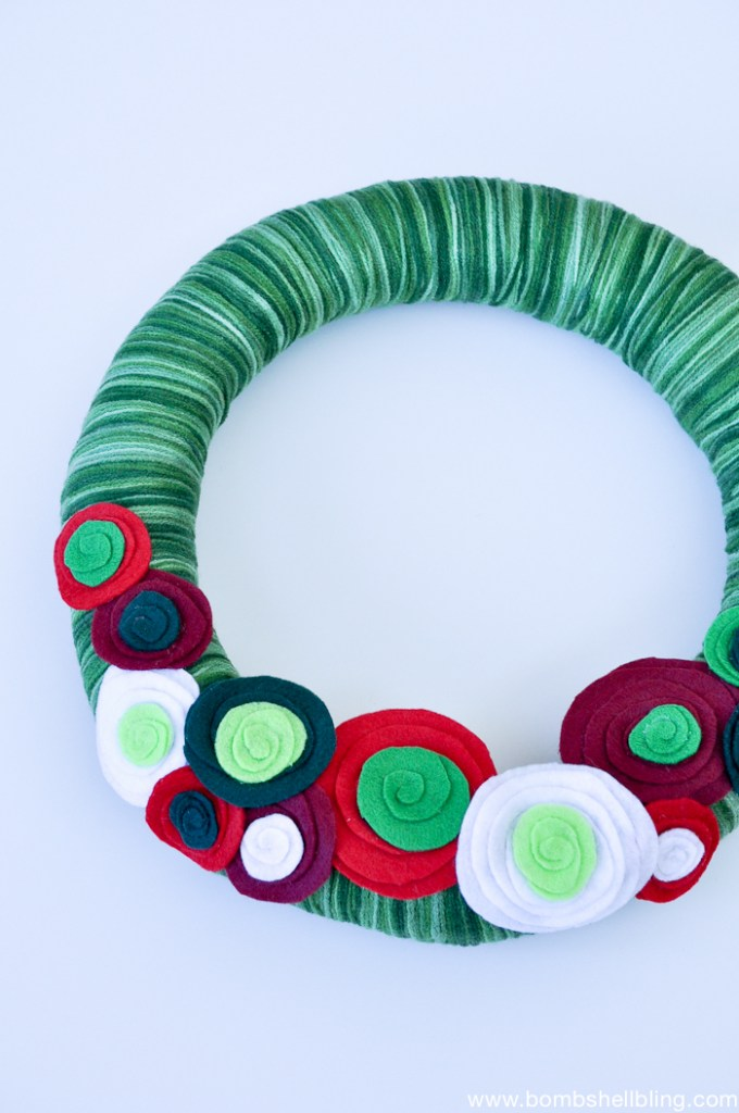 how to make a christmas flower wreath