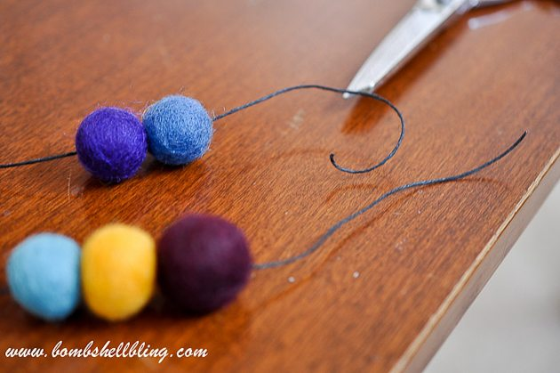 Felt Ball Statement Necklace-14