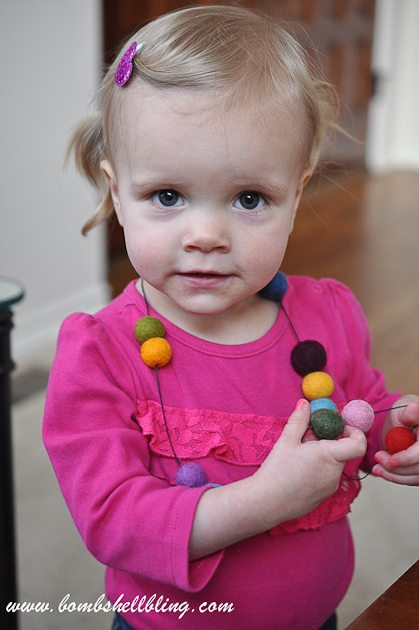 Felt Ball Statement Necklace-18