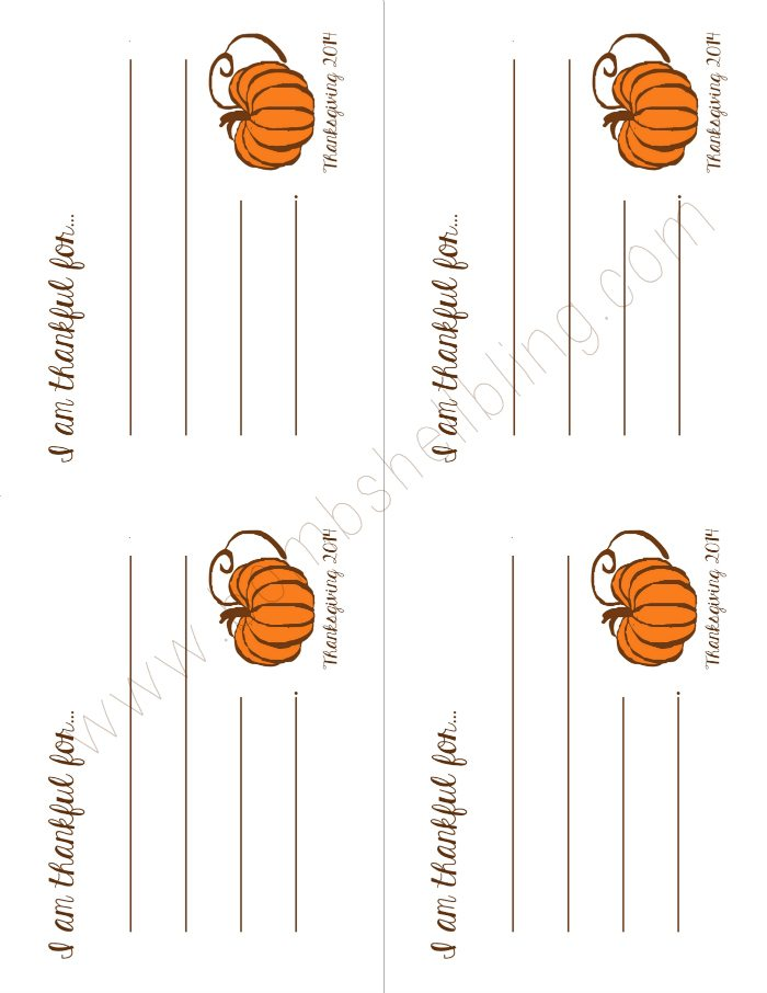 Thanksgiving Printable Cards Watermarked