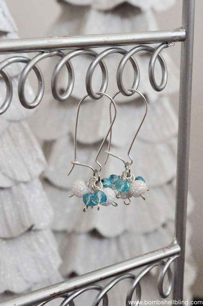 Frozen Inspired Dangle Cluster Earring Tutorial-1