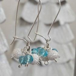 Frozen Inspired Glamorous Gift: Icy Dangle Cluster Earrings