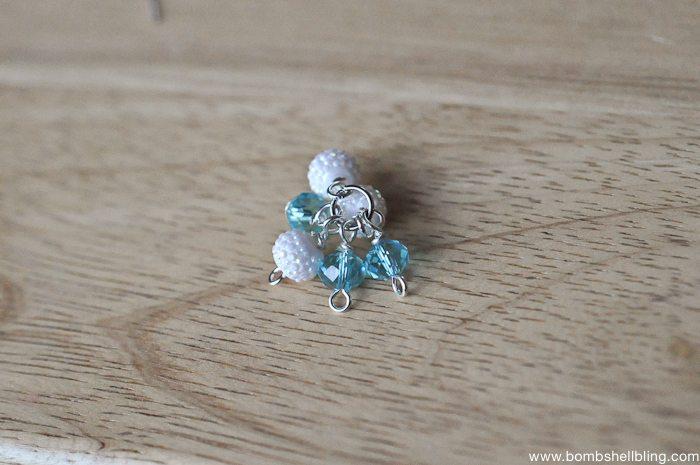 Frozen Inspired Dangle Cluster Earrings-8