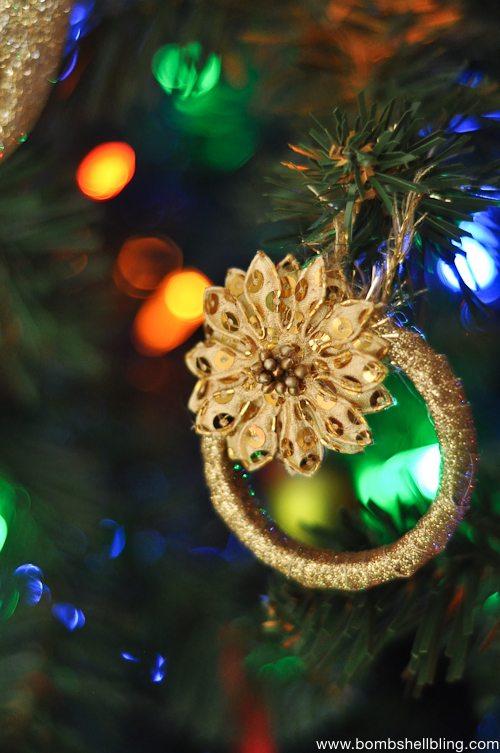 Gold Wreath Christmas Ornament Tutorial-2