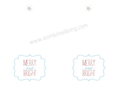 MERRY CARD PRINTABLE