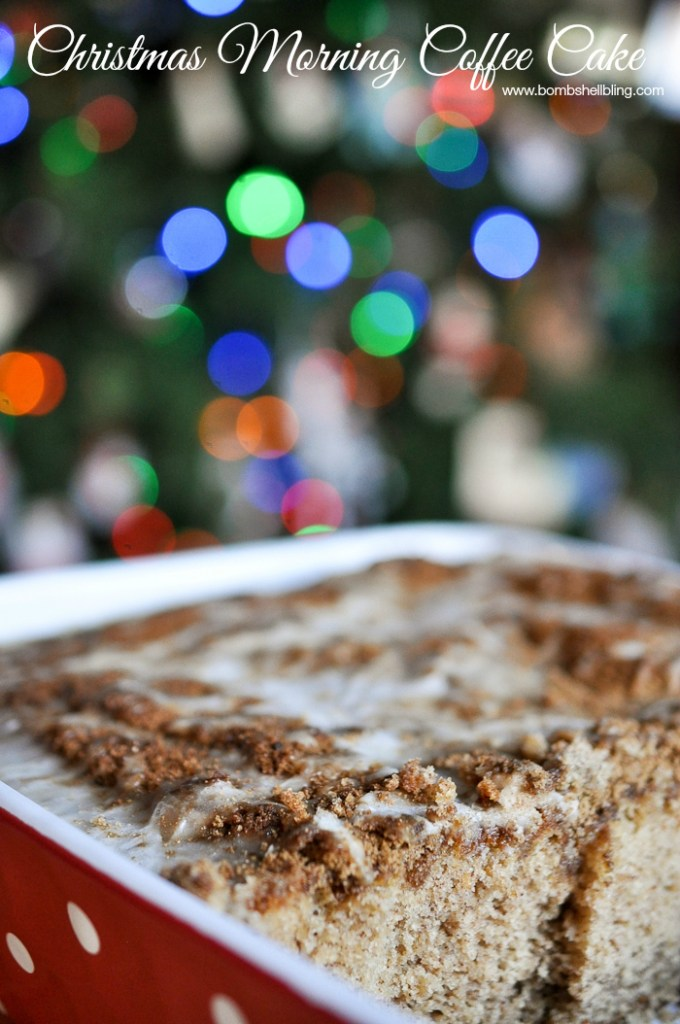 The best overnight coffee cake EVER!! Perfect for Christmas morning or birthdays!