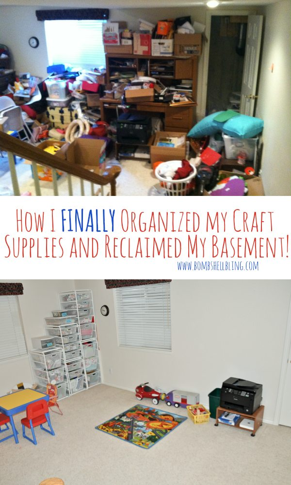 How I FINALLY Organized My Craft Supplies and Reclaimed My Basement