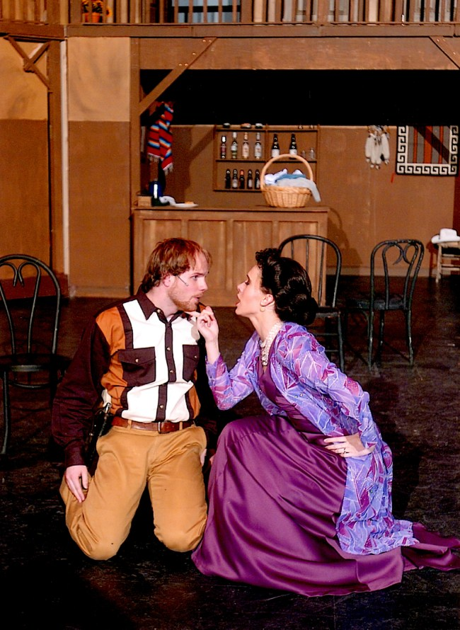 Irene knows how to get her man!  Irene and Lank in Crazy for You in Logan, UT.