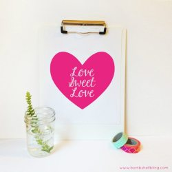 LOVE SWEET LOVE Free Printable