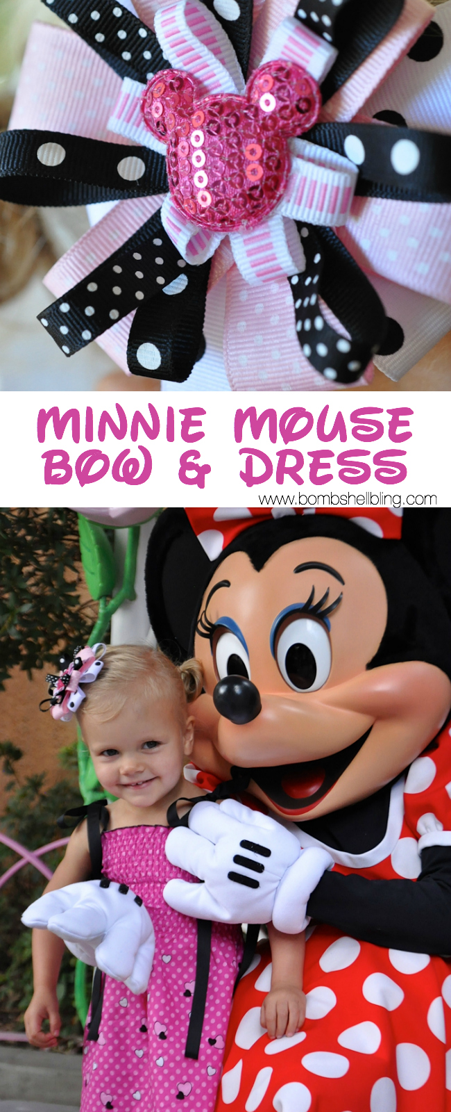 Minnie Mouse Bow & Dress Tutorial