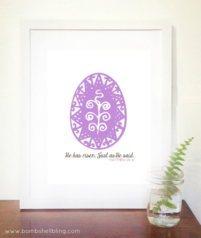 This free religious Easter printable is classic, simple, and perfect for Easter decor.  Simply print it out, frame, and you will have a lovely statement piece of decor.