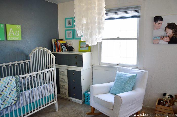 I love this retro inspired nursery!