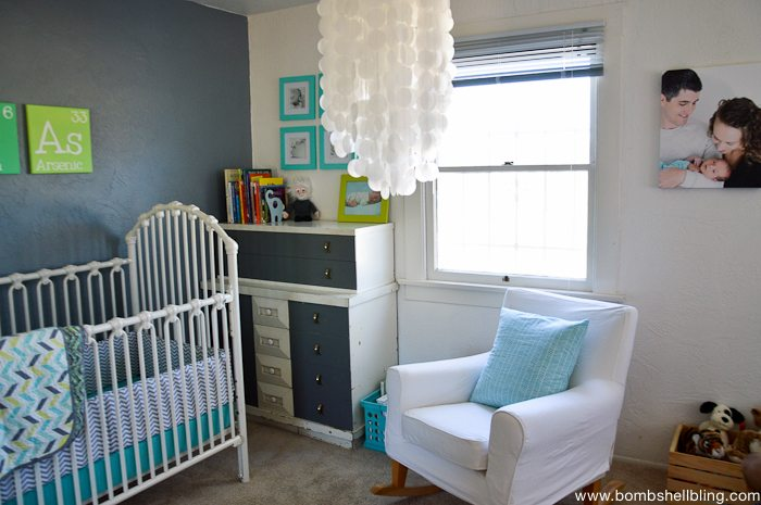I love this retro inspired nursery!