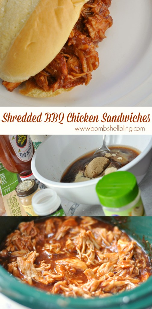 These crockpot barbeque chicken sandwiches are SOO good - plus they are an awesome freezer meal!