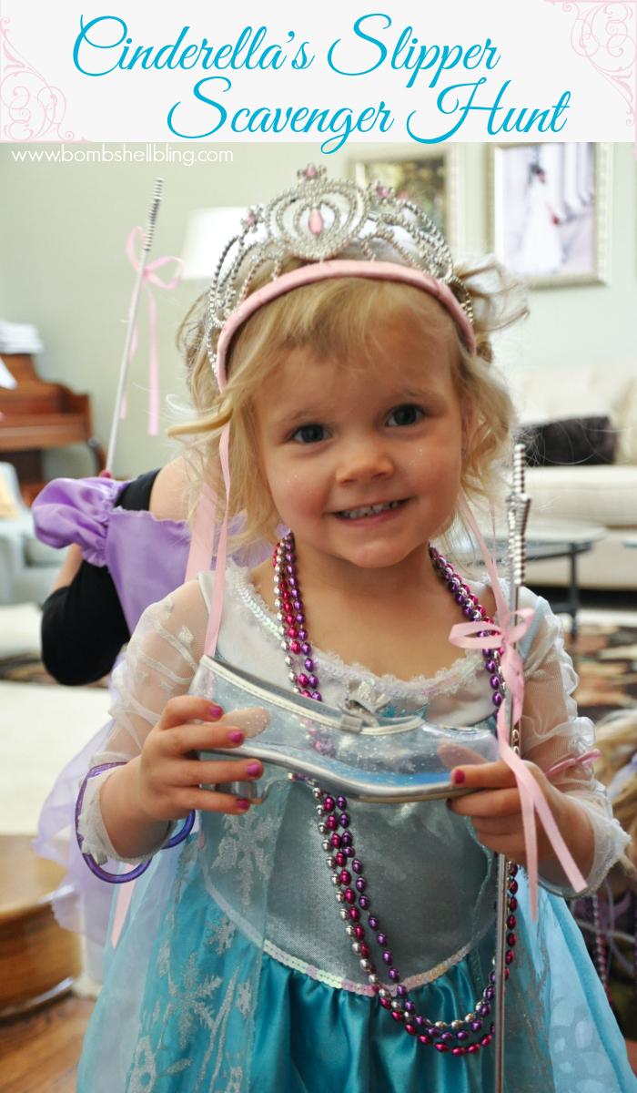 Cinderella's Slipper Scavenger Hunt - Perfect for a princess party!