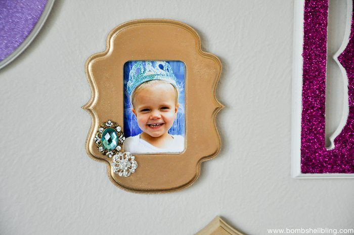 Adding texture to a frame with embellishments is sure to make it pop!