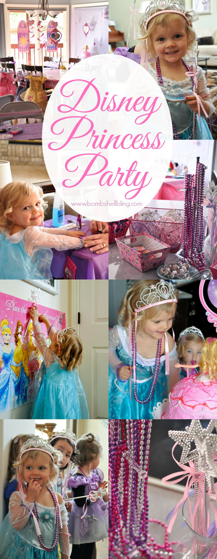 Disney princess party collage