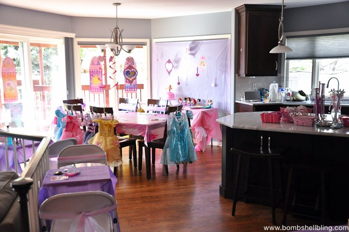 Bippity boppity boutique party room set up