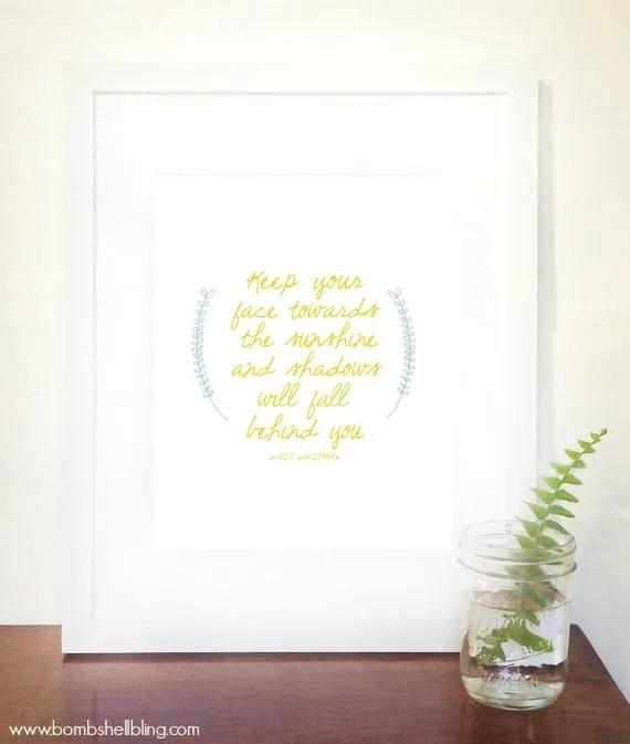I love this inspirational Walt Whitman quote printable.  So pretty.