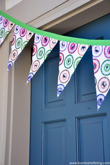 Wild Kratts Birthday Party door banner close up