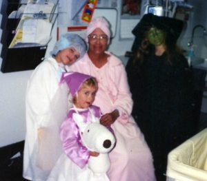 Mom Halloween in the Hospital