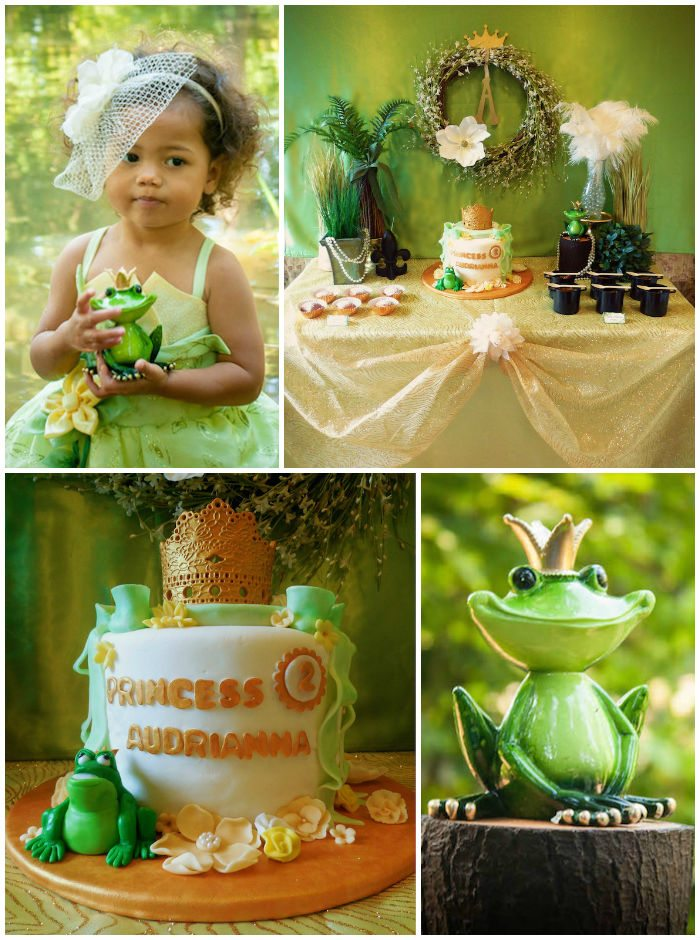 Disney princess parties Princess and Frog collage