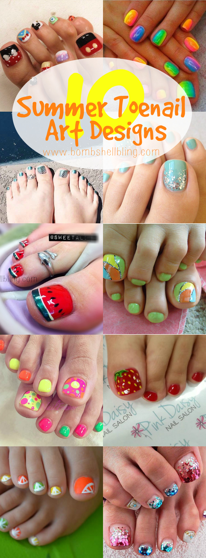10 Summer Toenail Art Designs