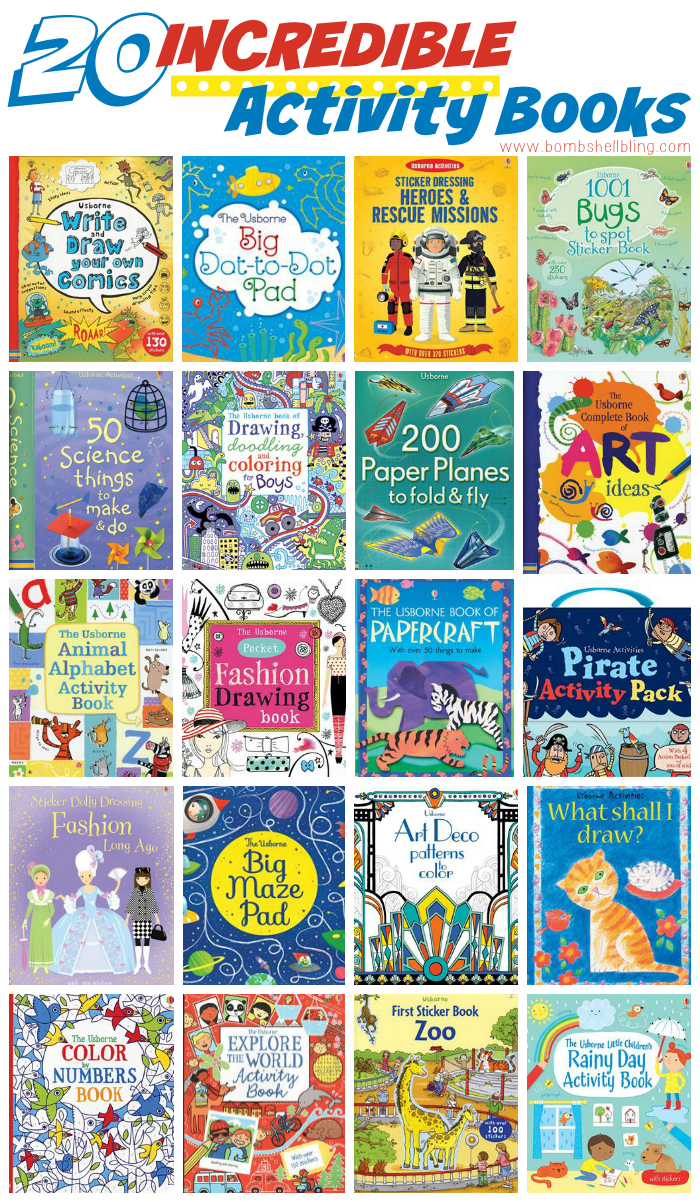 20 INCREDIBLE Activity Books for Kids of All Ages!