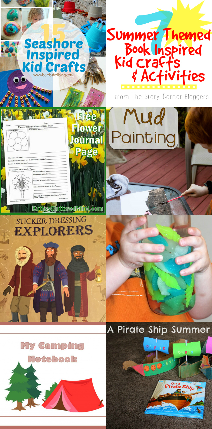 7 book inspired kid crafts and activities that are PERFECT for beating summer boredom!