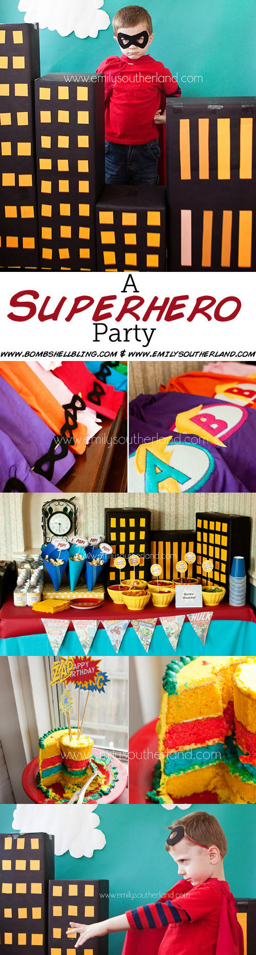 An Epic SuperHero Birthday Party