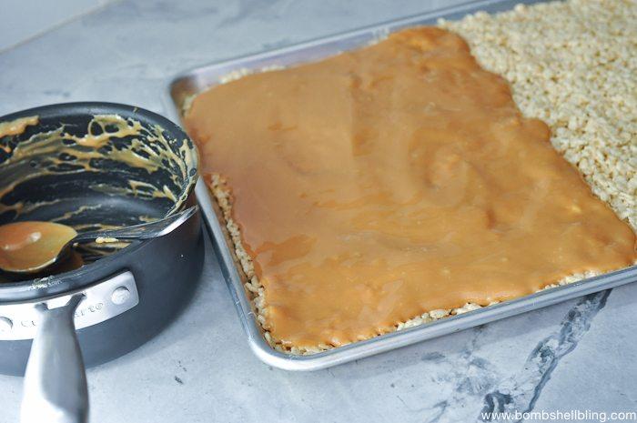Caramel Rice Krispie Treat Sandwiches-6