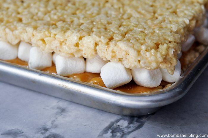 Caramel Rice Krispie Treat Sandwiches-9