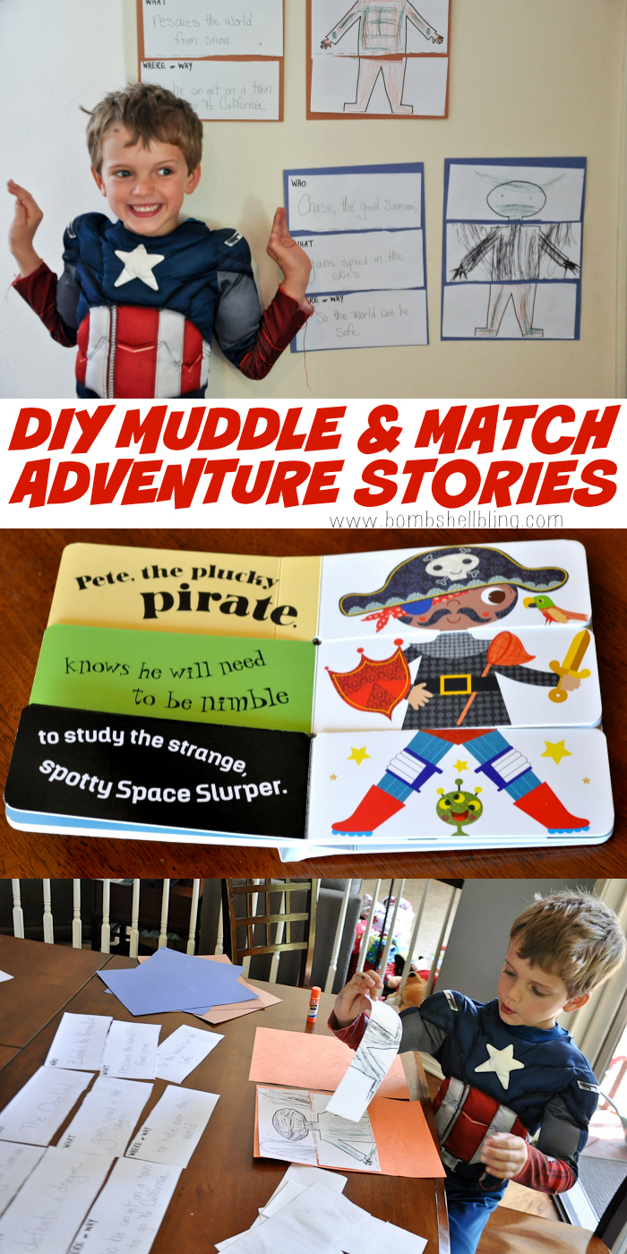 DIY Muddle & Match Adventure Story Activity for Kids