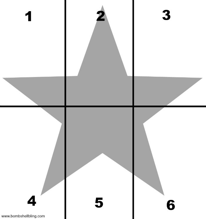 Recital Star Pattern Layout