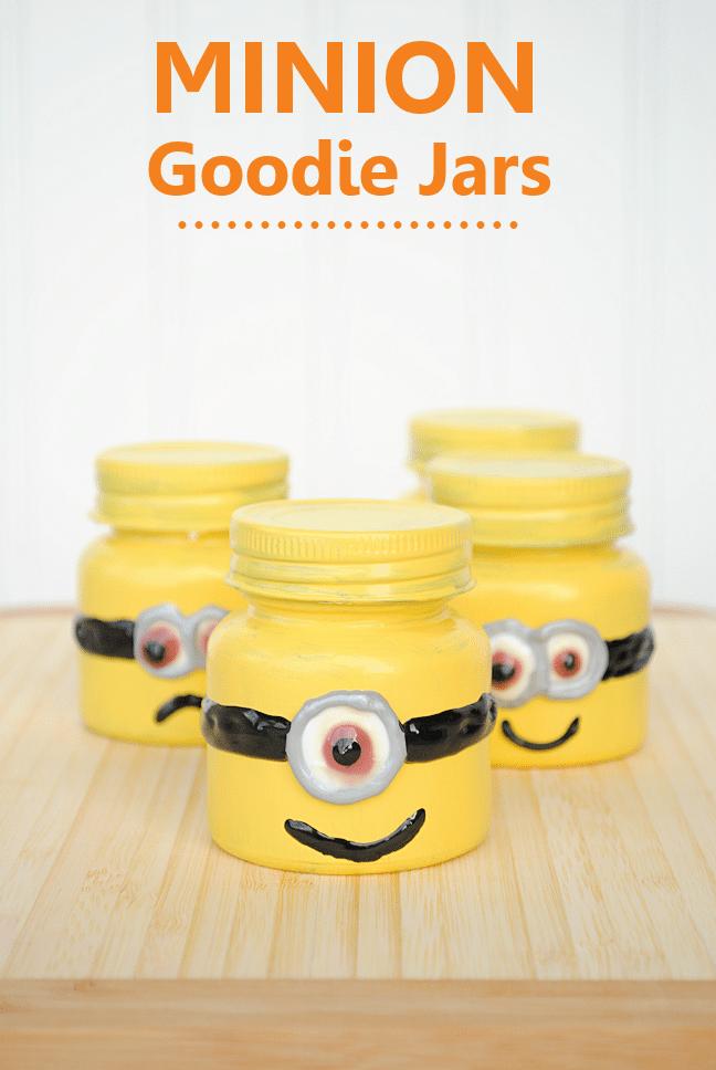 minion ideas glass jars painted to look like minions