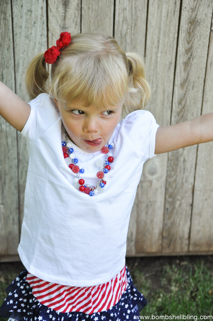 Patriotic Bauble Necklace-3