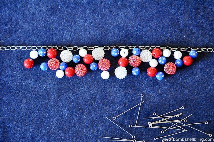 Patriotic Bauble Necklace Tutorial-6