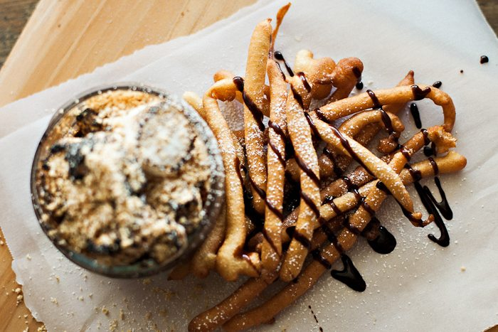 Funnel Cake Fries with S'mores Dip