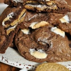 S'mores Oreo Stuffed Cookie Recipe