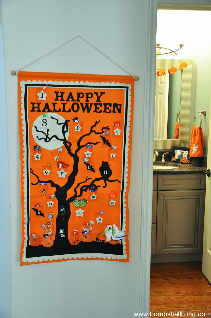 LOVE the Halloween countdown!