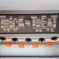 TRICK OR TREAT Washi Tape Sign