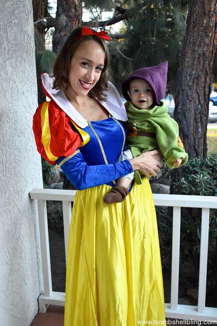 Make your baby a Dopey the Dwarf costume for Halloween with this simple sewing tutorial. This is a great family Halloween costume idea.