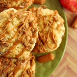 Streusel Topped Caramel Apple Muffins