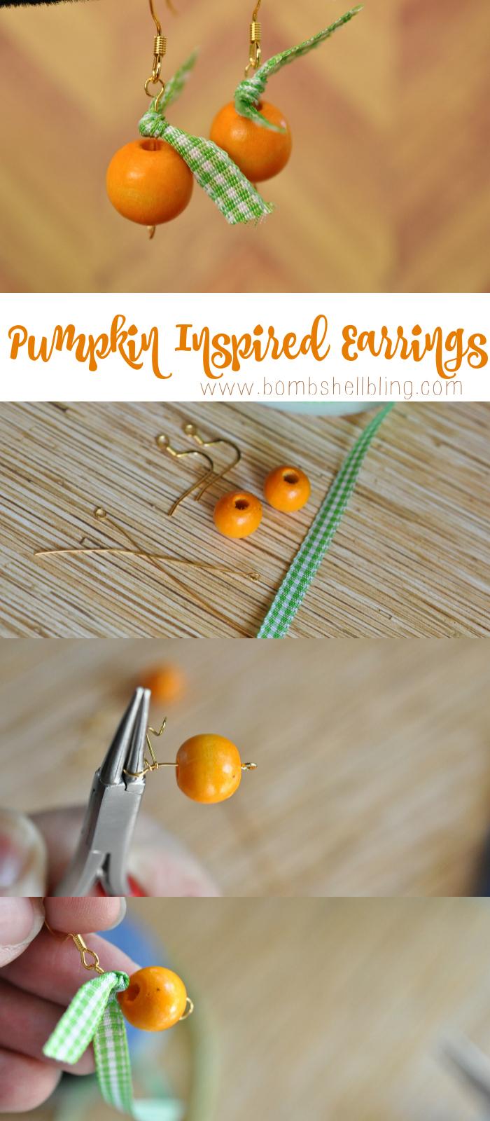 How to make pumpkin inspired earrings!