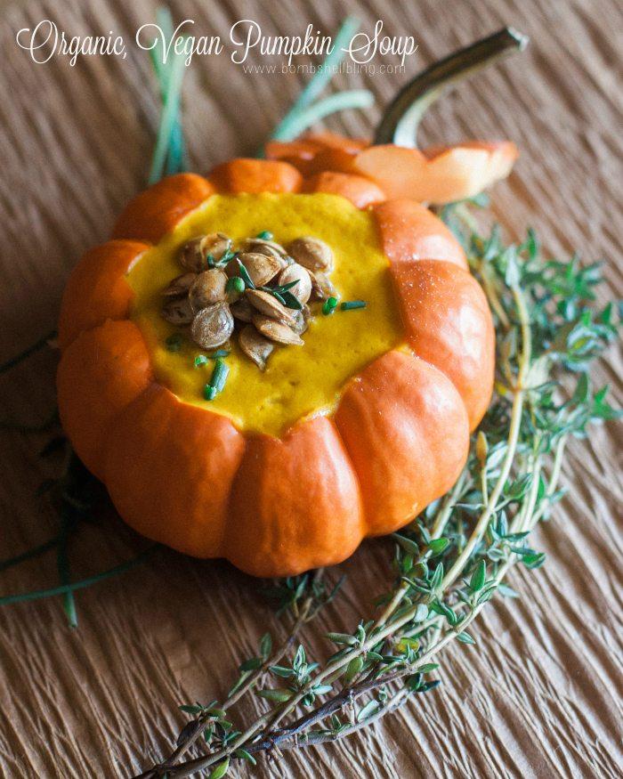 Organic, Vegan Pumpkin Soup