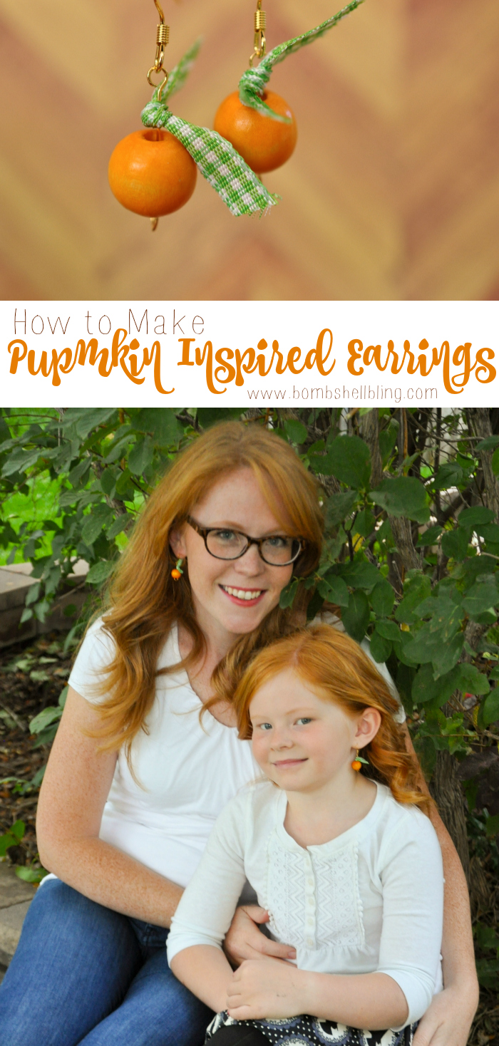 Simple Tutorial for Darling Pumpkin Inspired Earrings